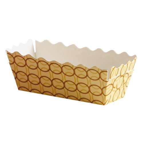 Hoffmaster 610908 Vanilla Links Loaf Pan, Small, 1-3/8″ Wall 1-1/5″ x 3-1/5″ (Pack of 300)