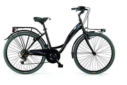 MBM Agora, Bicicletta da Trekking Unisex – Adulto, (Nero A01), 26'