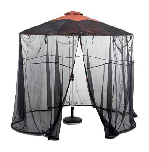 Classic Accessories Water-Resistant 9 Foot Universal Round Patio Umbrella Insect Screen Canopy