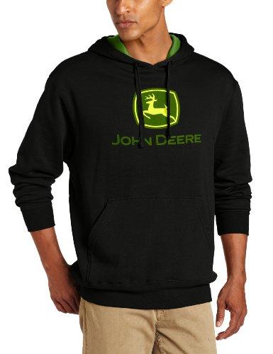 John Deere Herren Kapuzenpullover mit Logo Logo - Schwarz - Groß