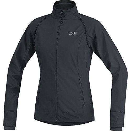 GORE WEAR Damen Element Lady Windstopper Zip-Off Jacke, Schwarz, 40