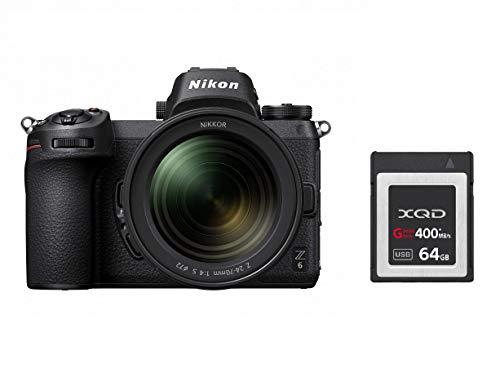 Nikon Z 6 Spiegellose Vollformat-Kamera mit 14-30 mm 1:4 S und 64 GB XQD-Speicherkarte (24,5 MP, 5 Achsen-Bildstabilisator, OLED-Sucher mit 3,69 Mill. Bildpunkten, 273 Messfelder AF, 4K UHD Video)