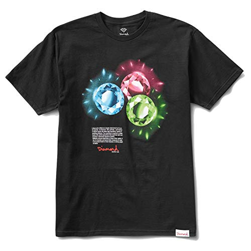 Diamond Supply Co. Men's Coloured Short Sleeve T Shirt Black M