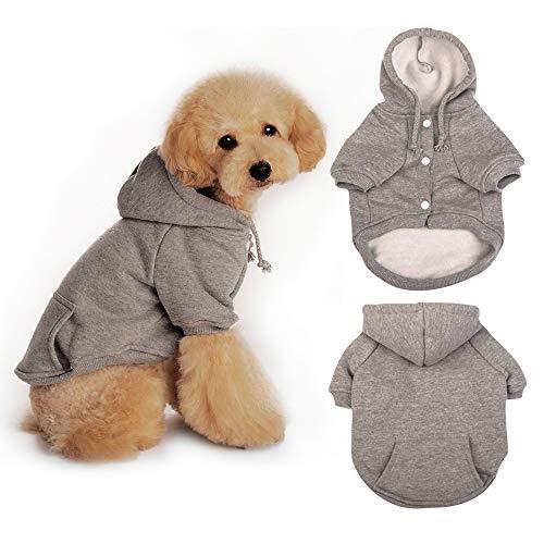 Eastlion Maglione Invernale per Cani, Cappottino Pullover Cane Gatto Animale Domestico in Cotone, Caldo Felpa Cuccioli Vestiti per Cane di Piccola e M