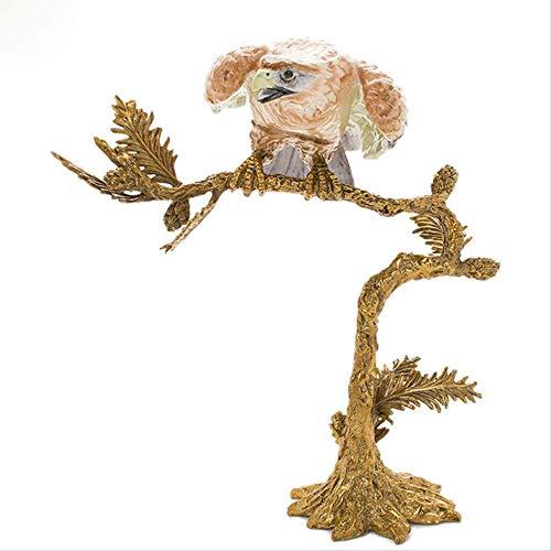 Modern Interieur Sculptuur Accenten Keramiek Met Koperen Creatieve Dierenornamenten Eagle Ambachtenornamenten