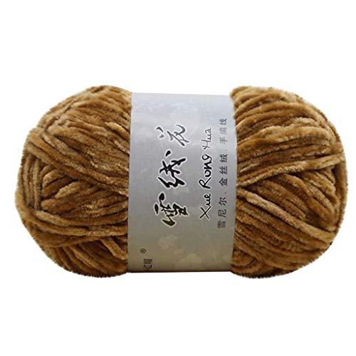 Velours Chenille Gold Velvet Chenille Fil de laine mi-épais Épais Diy Crochet Pull Scarf Line Home Textiles
