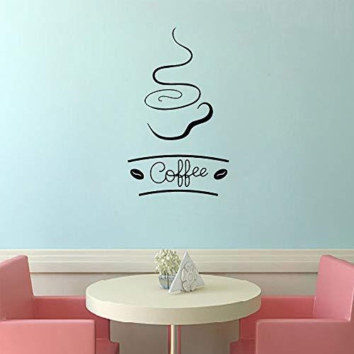 XCSJX Papel Pintado Autoadhesivo de Vinilo de café Divertido para habitación de niños decoración del hogar Pegatina de Arte de Pared Mural 47x77cm