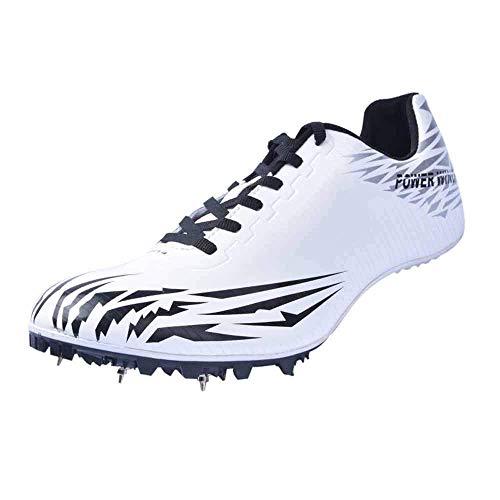 GLEYDY Zapatos De Atletismo Unisex 7 uñas Zapatos con Clavos Zapatillas Deportivas Zapatos De Entrenamiento Antideslizantes Zapatillas De Atletismo De Salto Ligeras con Clavos,002,37EU