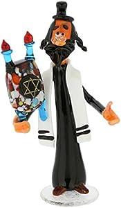 GlassOfVenice Rabino de cristal de Murano con pergaminos de la Torá