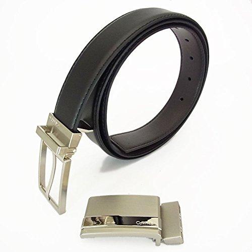 カルバン・クライン メンズ リバーシブルベルト 74310 ブラック/ブラウン [並行輸入品]