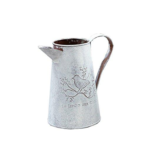 Demarkt Vintage Gießkanne Dose Blumen Bewässern Dekoration Old Style of Flower Vase Metall Vase Blume Krug Gartentöpfe Dekoration