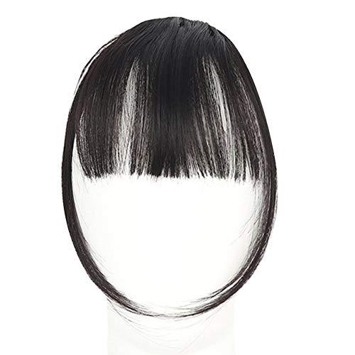 LovePlz Femmes Mode Mini Air Bangs Frange Synthétique Faux Cheveux Extension Postiches Perruques De Cheveux pour Les Femmes pour La Maison en Plein Air Cheveux Accessoires Marron foncé