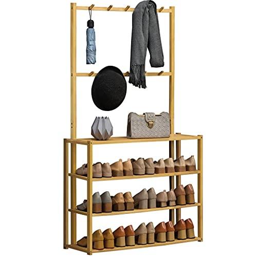 Appendiabiti per scarpe da stoccaggio per scarpe armadietto per mensola, 4-livello Bamboo impilabile scarpe da scarpe da scarpe da scarpe impilabile scarpa impilabile struccante salotto per la casa, p
