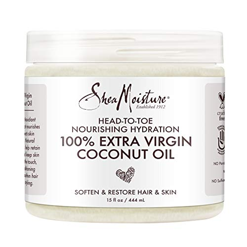 SHEA MOISTURE 100% Extra Virgin Coconut Oil  (15 Oz), 444 Millilitre
