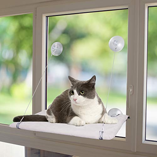 Pet Prime Cat Window Perch Hammock Cat Window Basking Hammock with Removable Big Suction Cups Cat Hammock Bed Holds Up To 50lbs