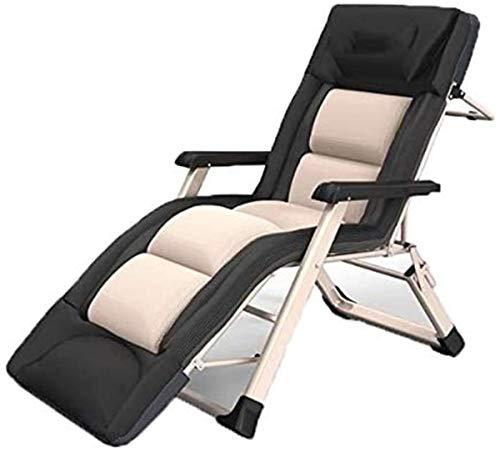 Tumbonas, sillas de Playa clásico Tumbona/Sillas reclinables Gravedad Cero Silla, sillas reclinables Patio reclinable Tumbona de jardín al Aire Libre Patio Gravedad Presidente 3D algodón Cojín del