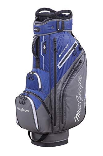 MACGREGOR - Borsa da Golf da Uomo, Modello MACTEC 15, Impermeabile, Taglia Unica, Colore: Blu Navy Grigio