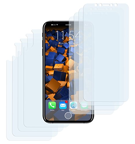 mumbi Schutzfolie kompatibel mit iPhone X Folie klar, Bildschirmschutzfolie (8X)