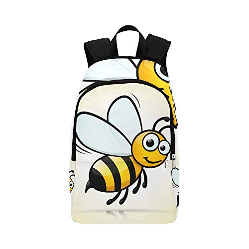 Cute Little Bee Flying Casual Daypack Travel Bag College School Backpack for Mens and Women