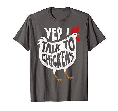 Yep I Talk To Chickens Shirt | Cute Chicken Buffs Tee Gift T-Shirt