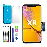 for iPhone Xr Screen Replacement Touch Screen Display Digitizer iPhone XR Frame Assembly Repair Tool + Adhesive Strips Compatible with Model A1984, A2105, A2106, A2108