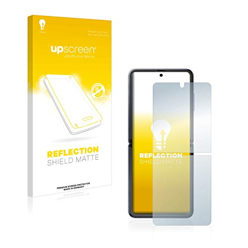 upscreen Entspiegelungs-Schutzfolie kompatibel mit Samsung Galaxy Z Flip / 5G – Anti-Reflex Bildschirmschutz-Folie Matt