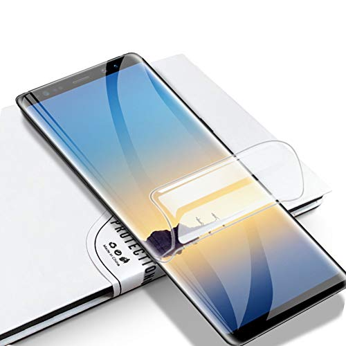LZS Protector de Pantalla Samsung S8 [2 Piezas] Membrana Protectora de hidrogel de Membrana Flexible Totalmente Cubierta sin Agua pulverizada. Diseñado para Pantallas de teléfono curvadas