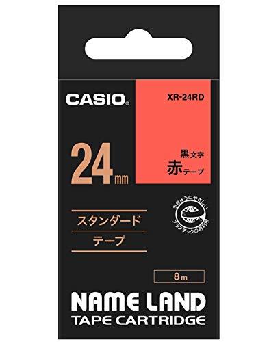 ネームランド スタンダードテープ 赤 XR-24RD [黒文字 24mm×8m]