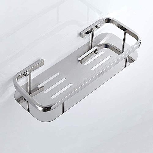 Estante de Esquina de baño de Acero Inoxidable 304 Carrito de Ducha de Lujo Soporte para Toallas de baño para el hogar Soporte para Hotel Montado en la Pared Rectángulo Canasta de Almacenamiento