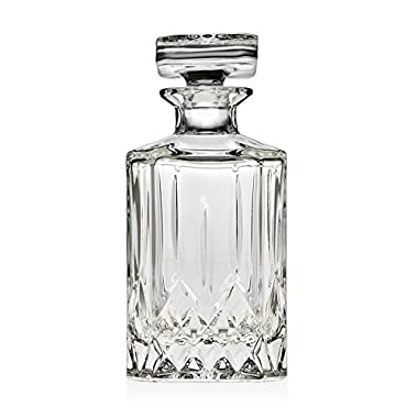 James Scott Crystal Liquor Decanter with Stopper-Whiskey Decanter for Wine, Bourbon, Brandy, and Liquor 650ml- Perfect Gift!