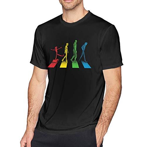 HUbGO Mens Design Cowboy Bebop Short Sleeve Tee T-Shirts Black Tops Tees