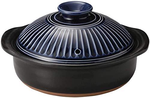 Herd Glaskeramikkochgeschirr Clay Reiskocher runder Keramik Auflauf japanische Donabe Hot Pot Suppentopf hitzebeständiges Steinzeug (Farbe, C, Größe, 1.9L),EIN,1.9L