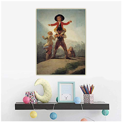 Nbqwdd Holover Francisco Goya - Lienzo decorativo para pared (50 x 70 cm), diseño de caballo y jinete