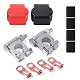 MNJ MOTOR Military Spec Battery Terminal Top Post Kit Terminal Connector for Car Trunk Boat RV SUV ATV