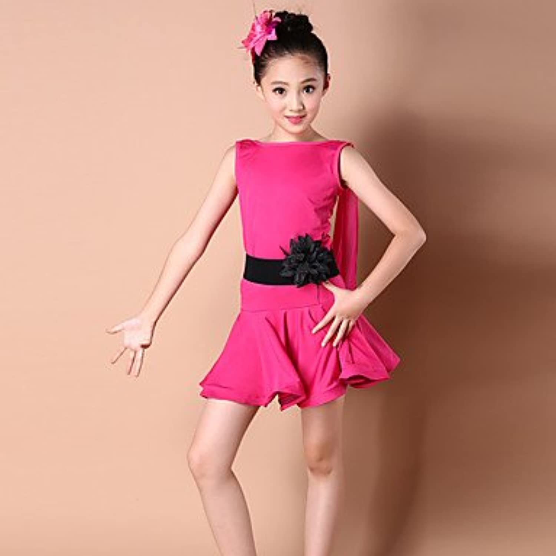 Dancewear Latintanz-Kleider(Schwarz Fuchsie Königsblau,Elastan Polyester,Latintanz) - fürKinder Kleid Kleid Kleid Kopfbedeckungen Ärmellos Hoch, 150 B073F8TV8R  Modisch 75fe01