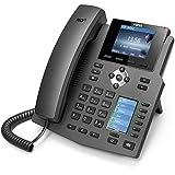 Fanvil X4G Cornetta cablata 4linee LCD Nero telefono IP, alimentatore compatibile POE non ...