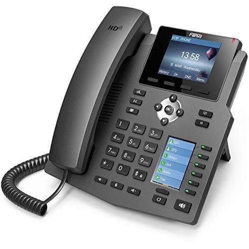 Fanvil X4G Cornetta cablata 4linee LCD Nero telefono IP, alimentatore compatibile POE non incluso