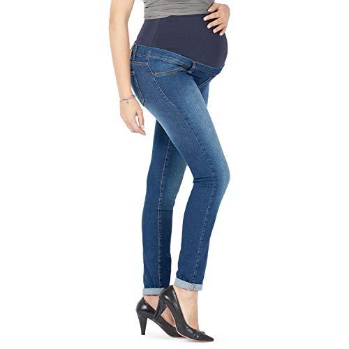 MAMAJEANS Milano - Skinny Fit Umstandsjeans, Grundlegende Jeggings Einfach Und Super Elastisch, Bequem Und Modisch Jeans für Schwangerschaft - Made in Italy (DE 36 - S, Vintage)