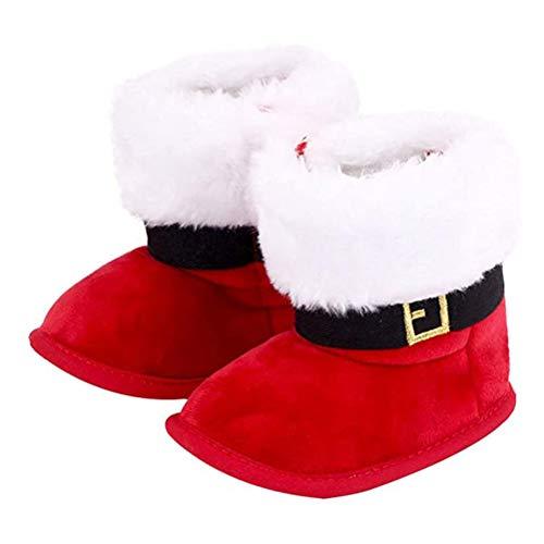 2020 Decoración de Navidad Regalo Bebé Niñas Niños Botas de Navidad Bebé Suela Suave Cuna Prewalker Zapatos Calzado