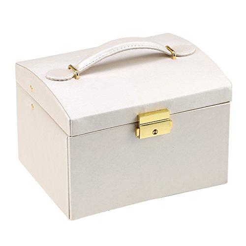 LICHUXIN Caja de Joyería de Viaje Mini Viaje Portátil Organizer Caja Collar Caja Almacenamiento De Joyas para Pendientes Anillos Collares Almacenamiento