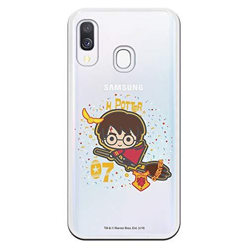 Funda para Samsung Galaxy A40 Oficial de Harry Potter Harry Icono para Proteger tu móvil. Carcasa para Samsung de Silicona Flexible con Licencia Oficial de Harry Potter.