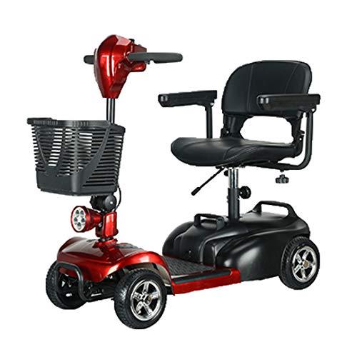 potente para casa Patinete eléctrico fácil de quitar para personas con discapacidad (rojo)