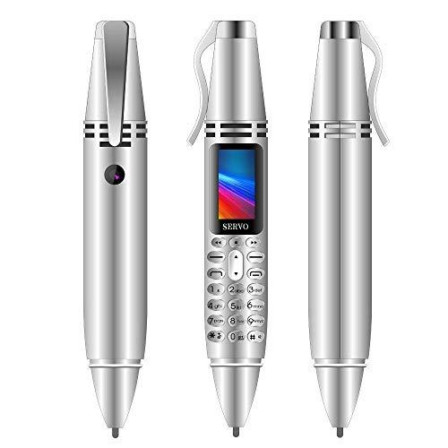 Mini telefono cellulare a forma di penna, con schermo piccolo, GSM, con doppia scheda SIM, Bluetooth, cellulare con fotocamera
