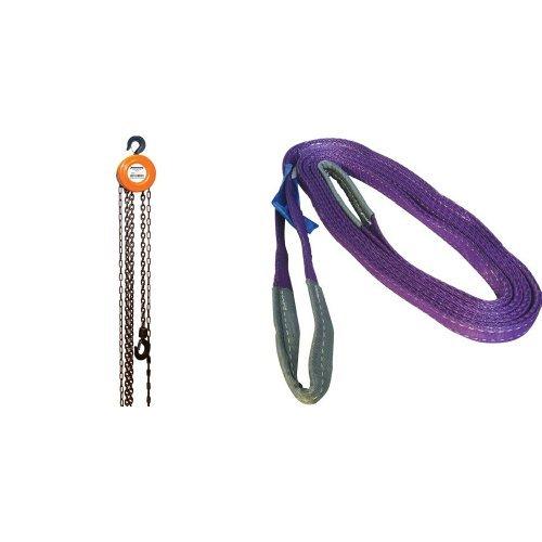 Silverline 633705 - Polipasto manual de cadena (1.000 kg / elevación máxima 2,5 m) +...