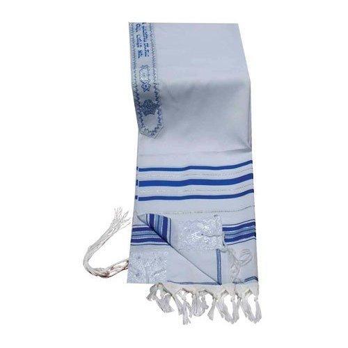 Acrylique Talit (imitation) en laine châle de prière en argent et or Taille 106,7 cm L x 162,6 cm W