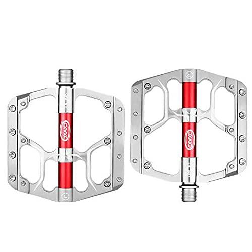 YZGSBBX Pedali per Biciclette Piatte con Cuscinetti sigillati MTB. Accessori per Biciclette Pedali (Color : V15-Silvery)