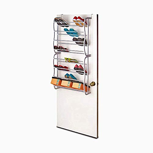 WEIZI Bastidores metálicos para Guardar Zapatos en el Pasillo Entrada Pasillo Dormitorio Colgante Porta Zapatos Organizador (sobrepuerta: 8 neumáticos)