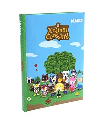 Agenda escolar Animal Crossing F.to estándar 18 x 13 cm 2021/2022 azul verde + bolígrafo de regalo 6 en 1 y llavero de abril