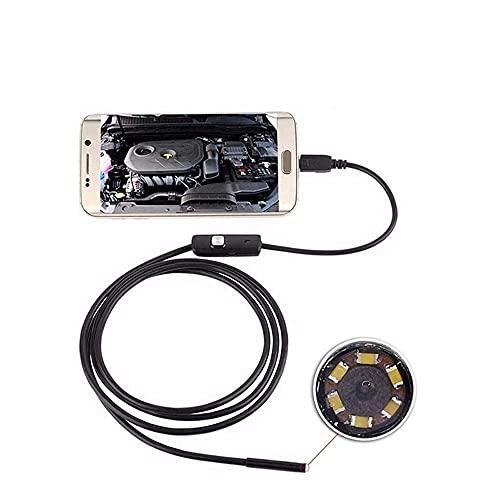 DealMux Endoscope USBendoscope Cámara de inspección de endoscopio semirrígida CMOS HD de 3.0MP Cámara impermeable 6 LED ajustables para PC con Android (Color: Duro, Tamaño: 2m)