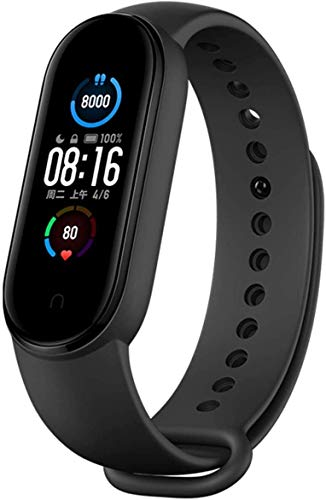 Xiaomi Nuevo Band 5 - Monitor de frecuencia cardíaca, Monitor de sueño, Salud Femenina, 11 Modos de Entrenamiento, 50 Metros a Prueba de Agua, Negro (MI 3)